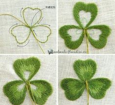 Wonderful Ribbon Embroidery Flowers by Hand Ideas. Enchanting Ribbon Embroidery Flowers by Hand Ideas. Embroidery Leaf, Embroidery Stitches Tutorial, Silk Ribbon Embroidery, Hand Embroidery Patterns, Embroidery Techniques, Embroidery Kits, Cross Stitch Embroidery, Simple Embroidery, Embroidery Supplies
