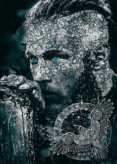 "Beautiful ""Viking Ragnar the king"" metal poster created by SyanArt . Our Displate metal prints will make your walls awesome. Viking Warrior Men, Viking Shield Maiden, Ragnar Lothbrok Vikings, Lagertha, Thor Tattoo, Viking Aesthetic, Thor Norse, Viking Head, Viking Images"
