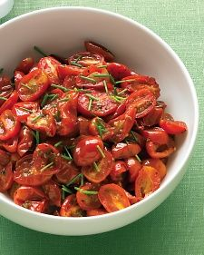 These tender roasted tomatoes add a spark to weeknight meals.