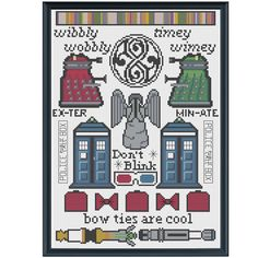 Doctor Who Sampler Cross Stitch Digital Pattern ($14 on Etsy)