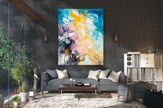 Items similar to Large Modern Wall Art Painting,Large Abstract wall art,painting colorful,xl abstract painting,canvas wall art on Etsy Large Abstract Wall Art, Large Canvas Art, Large Painting, Texture Painting, Painting Art, Texture Art, Gold Canvas, Canvas Canvas, Knife Painting