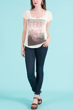 Fear Isn't Real Tee by Dead Bury Dead