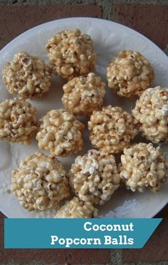 Food The Doctors: Healthy Sweets Coconut Popcorn Balls Recipe Coconut Recipes, Sweets Recipes, Snack Recipes, Cooking Recipes, Candy Recipes, Healthy Popcorn, Healthy Desserts, Popcorn Snacks, Fun Desserts