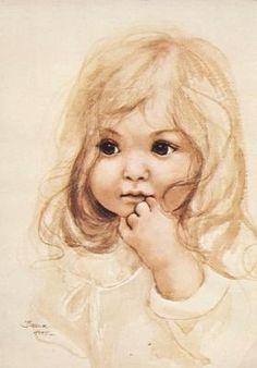 Portret dziewczynki ze starej pocztówki 14.