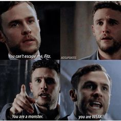 This is so sad because it means Fitz sees himself as either weak or a monster - no inbetween