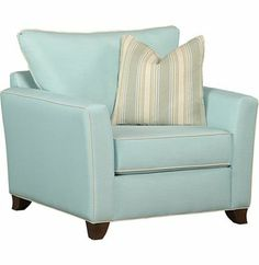 Our #Havertys Ashley chair makes your living room pop with its outlandish #aquamarine hue and coordinating pillows.