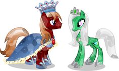 For My comic I needed a Crystal King and Queen. King Rubeus is the last king of the crystal empire. King Rubeus and Queen Emeraldas Mlp, My Little Pony List, My Little Pony Friendship, My Little Pony Characters, Disney Characters, Queen Emeraldas, Crystal Ponies, Princess Cadence, Nightmare Moon