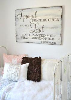 Nursery sign by Aimee Weaver Designs