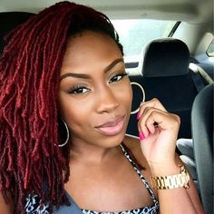 Love the color. I usually mix the red and black with my braids and faux locs, but I may try this next time.