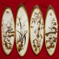 Madeira artesanato, Madeira de arte, Moda casa ornamentos, Poplar pirogravura…