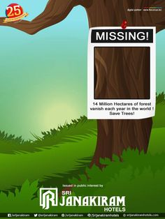 'Share if you Care!' 《MISSING!》 Do you know? 14 Million Hectares of forest vanish every year! Lets Save Trees and Save Human life! #save_trees #environment #saveplanet #nature #earth