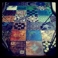 Beautiful patchwork tile floor....