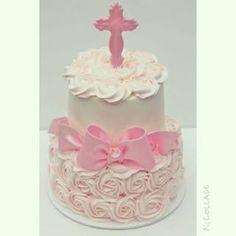 Resultado de imagen para torta de rosas para bautizo