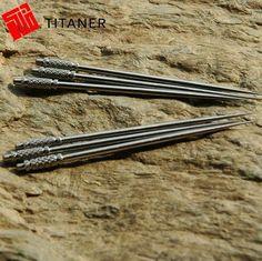 Titanium toothpick Raw material : Titanium TC4 Length: 65mm Max diameter: 2.9mm Weight: 0.8g