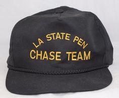 LA State Pen Chase Team Canvas Cap/Hat, Slide Clip, Black #WestPro #BaseballCap