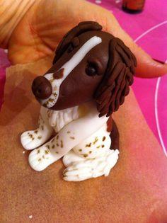 Fondant Dog, Fondant Animals, Fondant Cake Toppers, Fondant Figures, Fondant Cakes, Cupcake Cakes, Cupcakes, Vegetable Garden Cake, Dad Cake