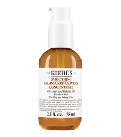 // Soften and tame frizzy unmanageable hair with Soothing Oil-Infused Leave-in Concentrate by Kiehl's. Nourish hair with argan oil leave-in conditioner treatment.