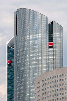 Paris, La Défense, Société Générale, architects: Michel Andrault, Pierre Parat, Nicolas Ayoub