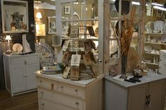 great store display - glass doors let you see through and make the space appear larger.