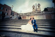Natalia and Sergey at the Spanish Steps...
