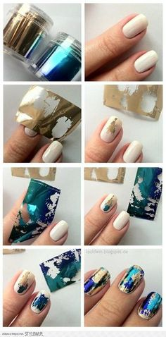 How to: Foil Nail Paper Design | na Stylowi.pl