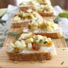 Rosemary Apple & Goat Cheese Crostini - I'd give this a 9!  Super delicious tasting, classy looking and a great 'change-up' from the normal apps that are served.  Love it.