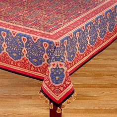 World Market Rajasthan Tablecloth: This Heavy Indian Pattern Will Look  Great On My Rustic Wooden