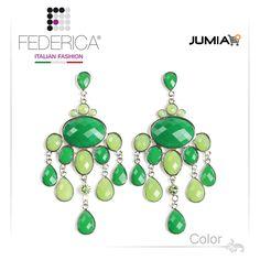 Earrings SUSY 3  Faceted drop pendant resin earrings. Green. 2,100.00 Ksh http://www.federicafashion.com/ep40/earrings-susy-3/ http://www.jumia.co.ke/federica-fashion/