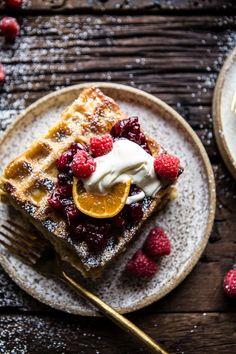 Monte Cristo Waffle Strata - perfect for breakfast on Christmas | halfbakedharvest.com @hbharvest