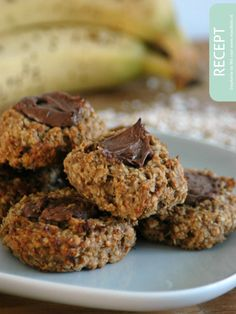 'healthy' cookies for the kids (& for me ofcourse! Healthy Cookies, Healthy Snacks, Healthy Recipes, Healthy Baking, High Tea, I Foods, Kids Meals, Sweet Recipes, Good Food