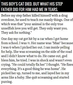 A beautiful story, and a good lesson to remember. When the going gets rough, sometimes all that is needed is just to hold them and be there.