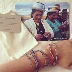 Our friends at Moomah Magazine ordered the cutest set of handmade bracelets to support artisans in Guatemala.