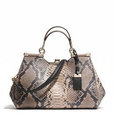 Coach :: MADISON CARRIE SATCHEL IN DIAMOND PYTHON LEATHER