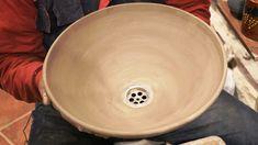 Pottery basin video: How to make a pottery basin on potter's wheel. #106