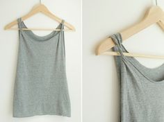 """T Shirt to Tank Tutorial """"11 T-shirt Hacks to Try 