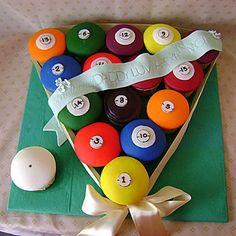 Pool Ball Fondant Cupcakes