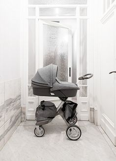 Stokke stroller set-up. I'm obsessed and love that the attachments grow with the kid.