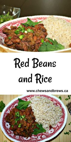 Red Beans and Rice ~ A New Orleans Recipe ~ www.chewsandbrews.ca