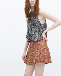 ZARA - SALE - PRINTED MINI SKIRT