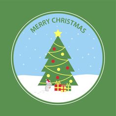 Christmas Tree Card - available in green or red