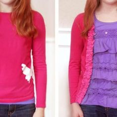 T-shirt to cardigan!  I have so many cute t's that don't fit anymore.  This would be perfect!