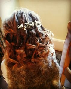 Bridal hair by Taryn's Freelance Hair  www.weddinghairdresser.moonfruit.com  Taryn.williams@sky.com  #hairup #bridalhair #hairstyle #wedding #weddinghair #curls #haircurl #bridal #bridesmaid #hair #hairstyle #hairstylist #hairupdo #weddingseason #weddingstyle #hairart #weddedwonderland #partyhair #bridetobe #weddingdayinspiration #flowergirl #girlshair #flowerhair #hairflowers