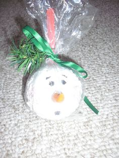 snowball head in a bag ornament  made by me