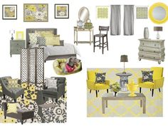 yellow & gray room