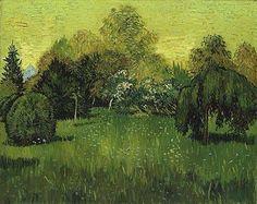 Vincent Van Gogh「The Poet's Garden」(1888)