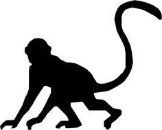 Monkey Silhouette by MetalPorSiempre