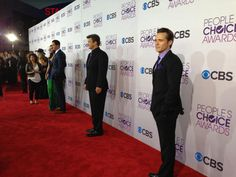 "From Juliana (@CleverDever) ""More #Castle men on the carpet"""