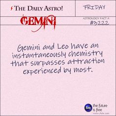 Daily Gemini Astrology Fact: Have you ever had a complete astrology birth chart reading? Here's a great free one.  Visit iFate.com today!