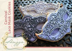 How to make a Carnival Lace Mask Cookie