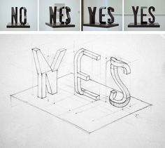 »yes/no« by markus raetz[via]
